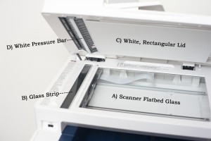 Open laser printer