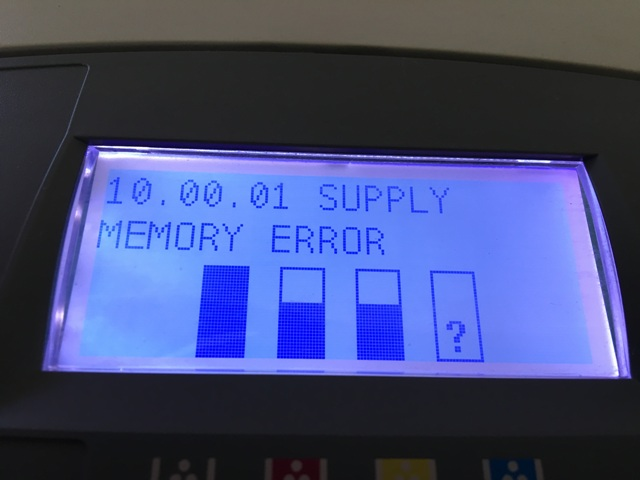 Resolving a 10.XY.90 or 10.XY.91 Error Message on HP Color LaserJet and MFP Flow Printers